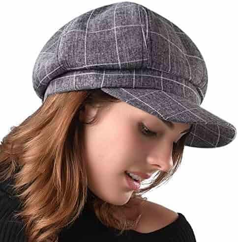 9eb5d8a5b05ad FURHATMALL Newsboy Cap for Women Spring Summer Thin Cotton Linen Gatsby  Visor Hat