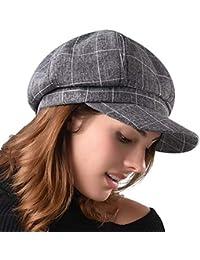 c58b7a969b52d Newsboy Cap for Women Spring Summer Thin Cotton Linen Gatsby Visor Hat
