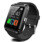 Bluetooth Smart Watch Fit for Samsung Galaxy S4/S5/S6 Edge Note 3/4/5 HTC Nexus Sony LG Huawei Android Smartphones (Black) (Black)
