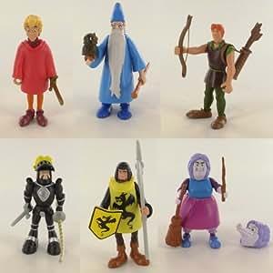 Disney Heroes Merlin el Encantador, serie completa de 6 figuras