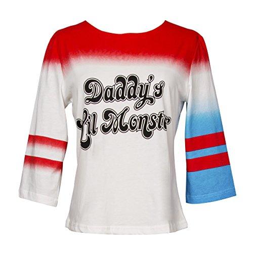 HQ Daddy's Lil Monster Girl's T-shirt Halloween Women's Costume (M) (Girls Halloween Shirts)