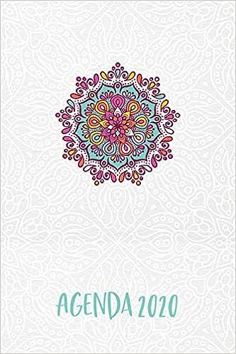 Agenda 2020: Mandala Turquesa Planeador Anual Mensual ...