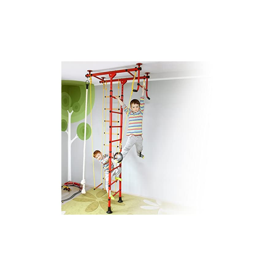 NiroSport Kids Playground Play Set Indoor Home Exercise Gym Sport Fitness  Training Wall Bars With Pull