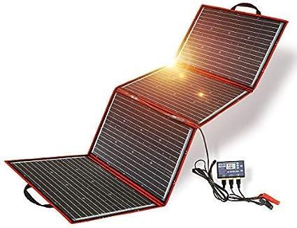 Dokio 200w Faltung SolarPanel Kit,Leicht und Klein(Nur 5,3 Kg,73*54*1,2cm) Mit Solarladeregler Und Pv-Kabel( FüR 12v Kfz Batterie,AGM , Gelbatterie , SäUrebatterie)Flott Geliefert, Ausgepackt Und Geht