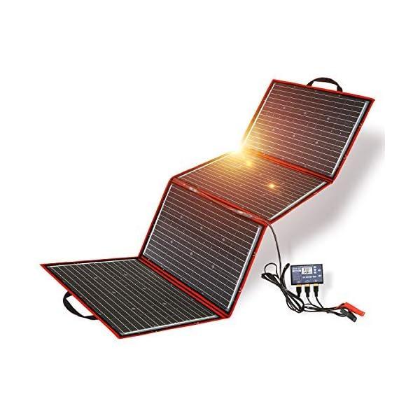 51qV6RhTOzL DOKIO 200W 18V Faltbar Solar Panel Kit Monokristallines Mit Solarladeregler Und PV-Kabel (Für 12V Kfz Batterie, AGM…