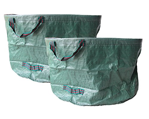 Walkingpround 2 Pack Pop-Up Garden Waste Bags 63 Gallons Lawn & Leaf Bags Container Spring Buckets Collapsible Durable - Garden Bag Up Pop