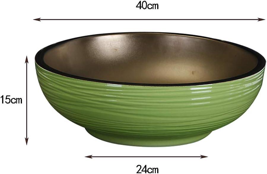 CUI XIA UK Wash basin Lavabo De Salle De Bain en C/éRamique Lavabo /à Poser Vasque /à Poser Europ/éEnne Lavabo Rond 40x15cm
