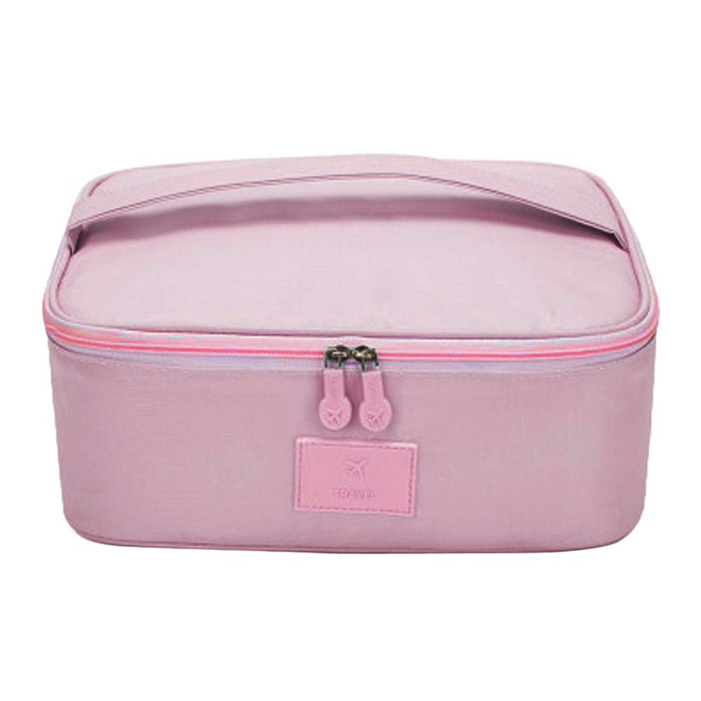 New Makeup Cosmetic Storage Box Bag Bright Organiser Foldable Stationary Contain