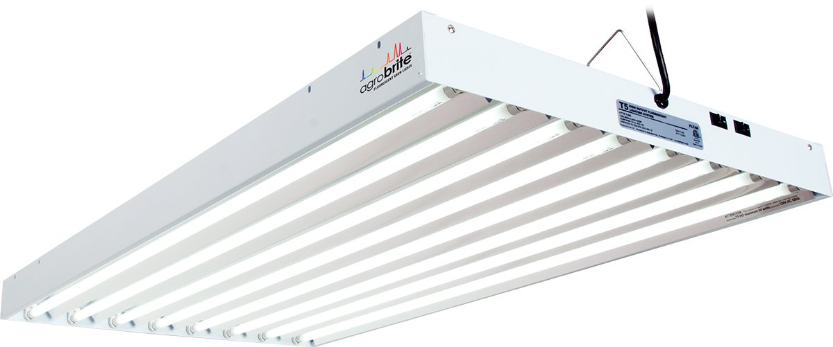 Agrobrite FLT48 T5 Fluorescent Grow Light System, 4 Foot, 8 Tube by Hydrofarm