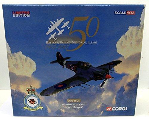 Corgi 1 32 AA35508 Hawker Hurricane 'Night Reaper' Battle Of Britain Model Plane