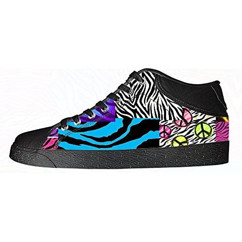 Zebra Lacci Di I Da Alto Stampa Scarpe Shoes Delle Tela Sopra Ginnastica Men's Custom Canvas Le In 5pY0qTwpd