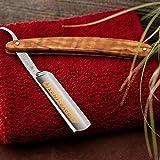 DOVO Inox Straight Razor with Olive Wood Handle 5/8