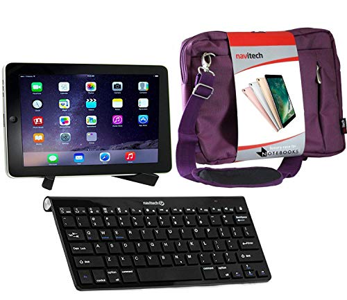 Navitech Converter Pack Including Multi OS Wireless Bluetooth Keyboard/Purple Case Bag & Portable Stand Compatible with The TESCO Hudl Tablet | HTC Flyer| BlackBerry Playbook| Dell Streak 7
