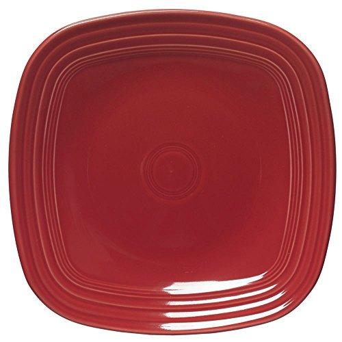 Homer Laughlin Fiesta Square Scarlet China Plate -10 3/4