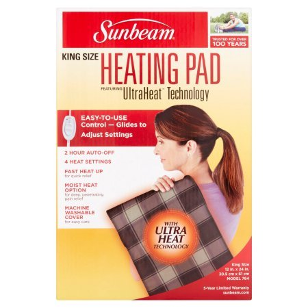 Sunbeam King Size Heating Pad With Ultra Heat Technology