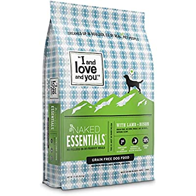 """I and love and you"" Naked Essentials Dry Dog Food - Natural Grain Free Kibble (Variety of Flavors)"