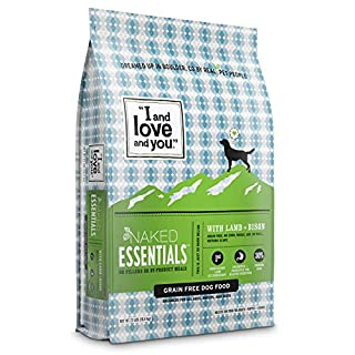"""""""I and love and you"""" Naked Essentials Dry Dog Food - Natural Grain Free Kibble, Lamb + Bison, 23-Pound Bag"""