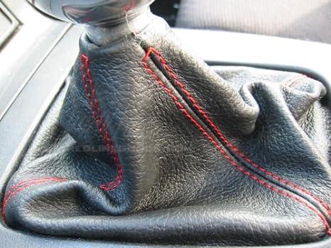 RedlineGoods Shift Boot Compatible with Hyundai Genesis Coupe 2013-15 Black Alcantara-Blue Thread