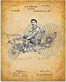 Velocipede Bicycle - 11x14 Unframed Patent Print - Great Gift Under $15 for Bicyclists and Vintage Decor