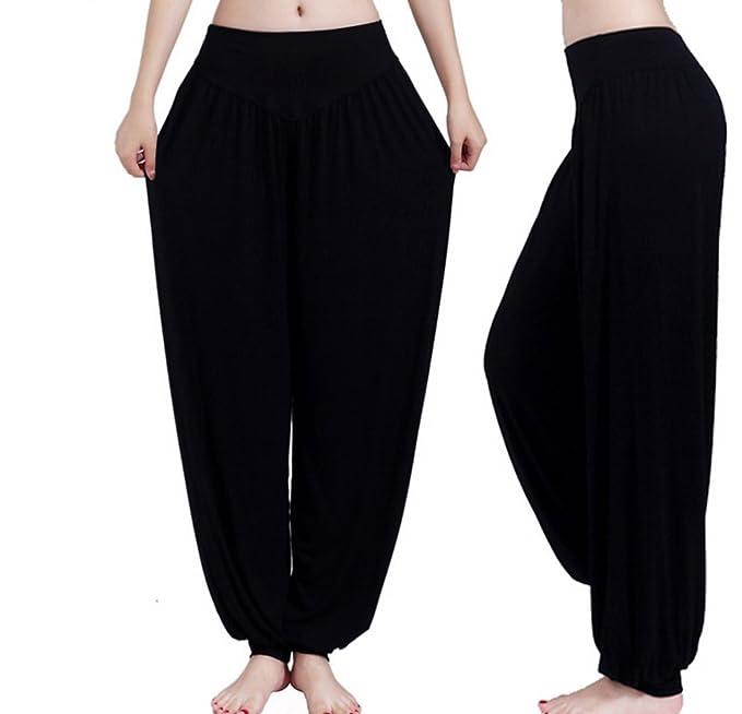 Amazon.com: guandoo para mujer, 100% Modal suave pantalones ...