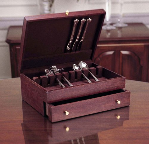 Reed & Barton Mahogany 1-Drawer Flatware Chest in Mahogany The Storage Store