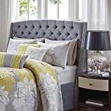 Madison Park Harper Upholstery Headboard Silver King