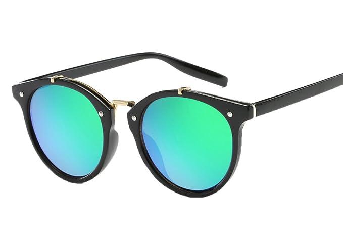 b1c9b2f293 Gafas de Sol Vintage Lentes Redondos Gafas para Hombre y para Mujer:  Amazon.es: Ropa y accesorios