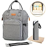 Tomus-UNI Baby Diaper Multi-Function Travel Bag Backpack (Linen Gray)