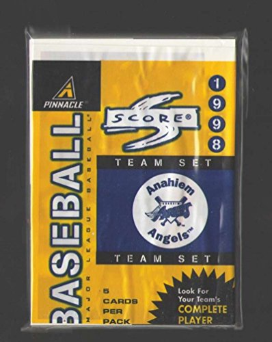 1998 Score Team Wax - ANAHEIM ANGELS Team Set