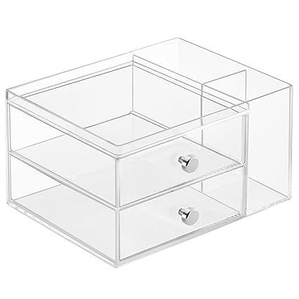 InterDesign Drawers Svuotatasche e portaoggetti bagno, 2 cassetti ...