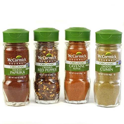 McCormick Gourmet Organic Wood Spice Rack (with Spices Included), 3 Spice Rack Shelves, 24 Herbs & Spices by McCormick (Image #3)