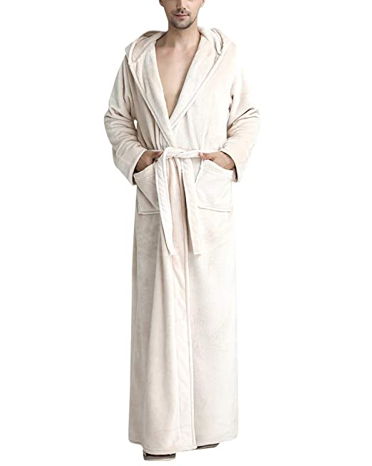 DianShaoA Unisex Luxury Cotton Towelling Bath Robe Dressing Gown Wrap  Housecoat Nightwear Hooded  Amazon.co.uk  Clothing 320f40c8f