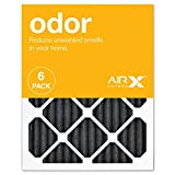 3m filtrete carbon - AIRx ODOR 16x20x1 MERV 8 Carbon Pleated Air Filter - Made in the USA - Box of 6