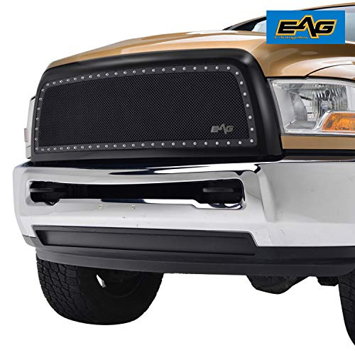 - EAG Rivet Stainless Steel Wire Mesh Grill Fit for 2010-2012 Dodge Ram 2500/3500