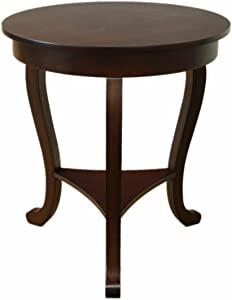 Frenchi Home Furnishing Burl Accent Table, Large