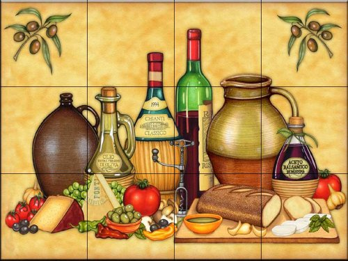 - Ceramic Tile Mural - Cucina Platter - by Dan Morris - Kitchen backsplash/Bathroom shower