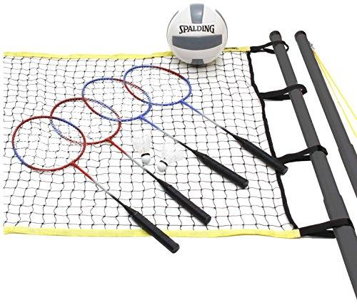 Spalding Recreational Series Quicksnap Volleyball/Badminton Combo Set