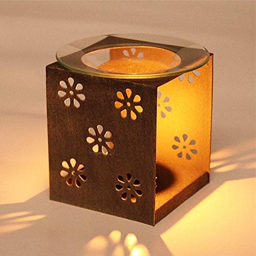 Ryocas Decorative Candle Holder - Vintage/Retro Style Brown