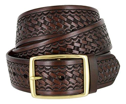 [해외]Hagora 남자의 진짜 튼튼한 가죽 바구니 질감 표면 1.75 \\ / Hagora Men`s Real Sturdy Leather Basket Texture Surface 1.75 Wide Buckle Belt