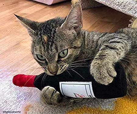 Amazon.com: Munchiecat Juguetes de vino y queso para gatos ...