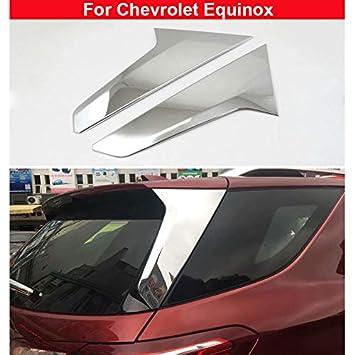 2 embellecedores cromados para tapa de ventana trasera para Equinox 2018 2019: Amazon.es: Coche y moto