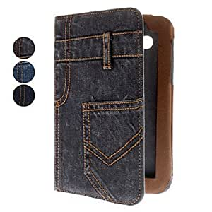 Buy Jeans Pattern Full Body Case with Stand and Card Slot for Samsung Galaxy Tab 7.0 P3100 (Assorted Colors) , Black