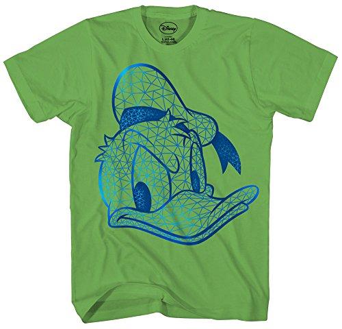 Donald Duck Face HD Gel Glossy Ink Disneyland Disney World Funny Humor Pun Tee Adult Mens T-shirt (Ink Green T-shirt)