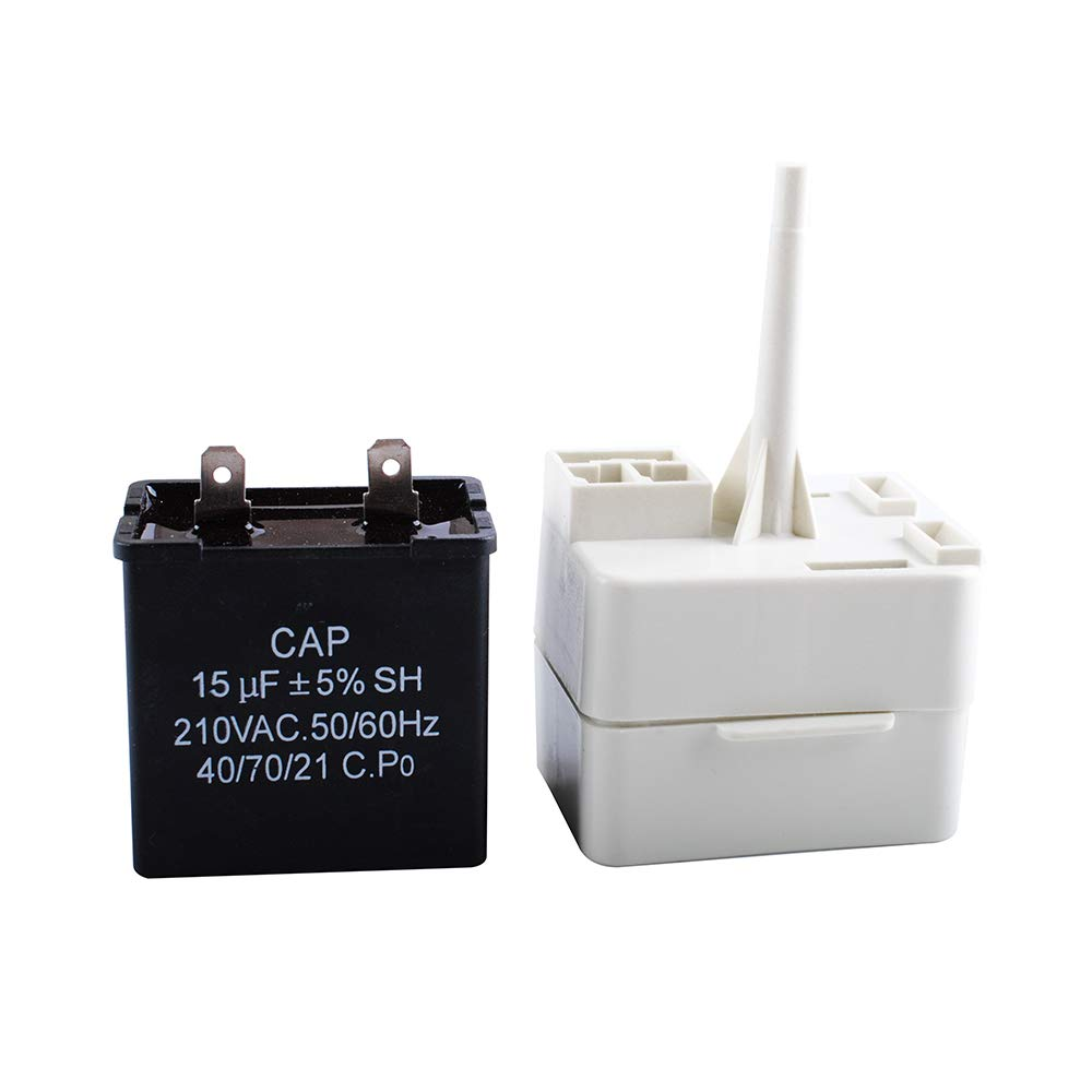 Ketofa 67005560 W10613606 Refrigerator Compressor Start Relay with Capacitor Compatible Whirlpool KitchenAid Kenmore fridges Replace W10416065 PS8746522 67003186 AP5787784