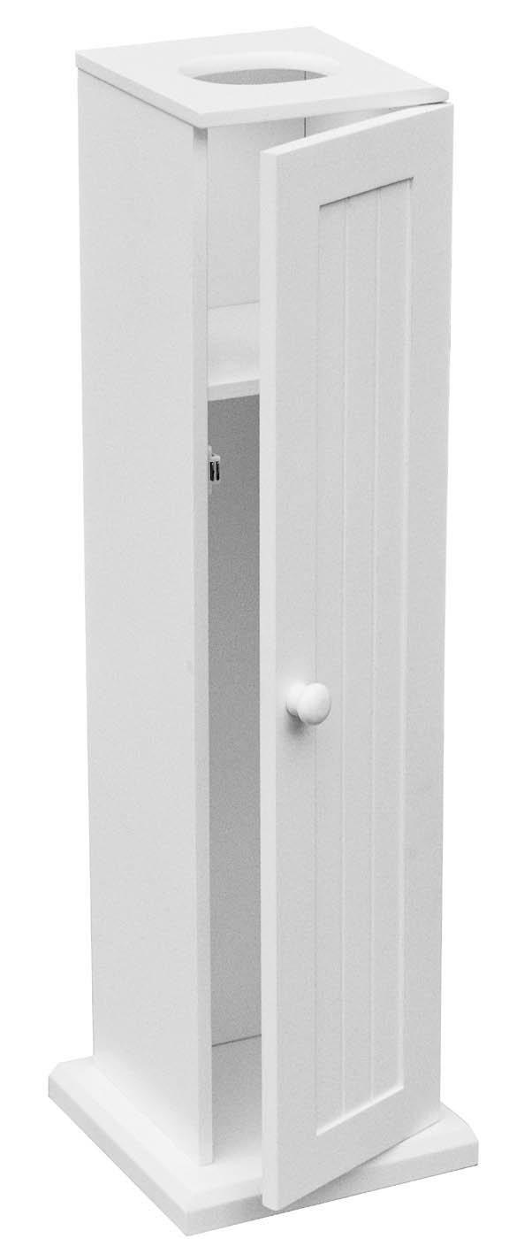 Premier Housewares Floorstanding Toilet Roll Holder - White 1600950 PREM-1600950_White
