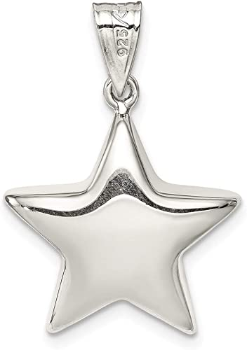 Mireval Sterling Silver Starfish Charm approximately 31 x 27 mm
