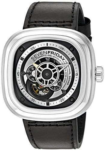 SEVENFRIDAY Men's P1-B1 ESSENCE Analog Display Japanese Automatic Black Watch