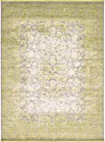 Cheap Unique Loom New Classical Collection Traditional Distressed Vintage Classic Light Green Area Rug (9′ x 12′)
