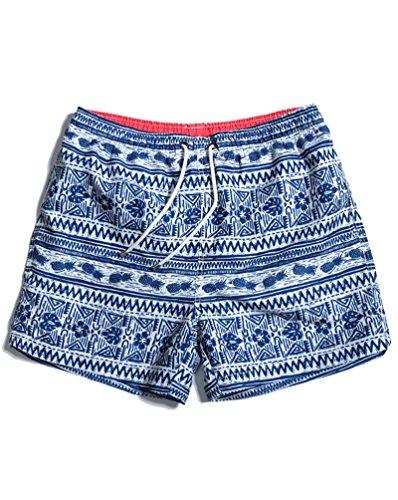 SHENGRUI Men's Swim Trunks Folklore Printed Patterns Swim Shorts For Men Swimwear Bathing Suits US L+/Tag Asia - Male Swimming Suit