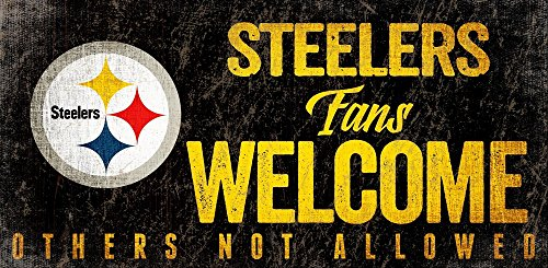 - Fan Creations Pittsburgh Steelers Welcome Sign, Multi